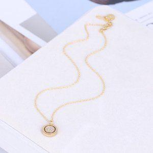 Michael Kors Rotatable Round Pendant Necklace
